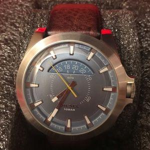 Men's Silver Diesel Watch